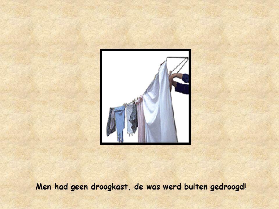 De automatische wasmachines hadden soms kuren !