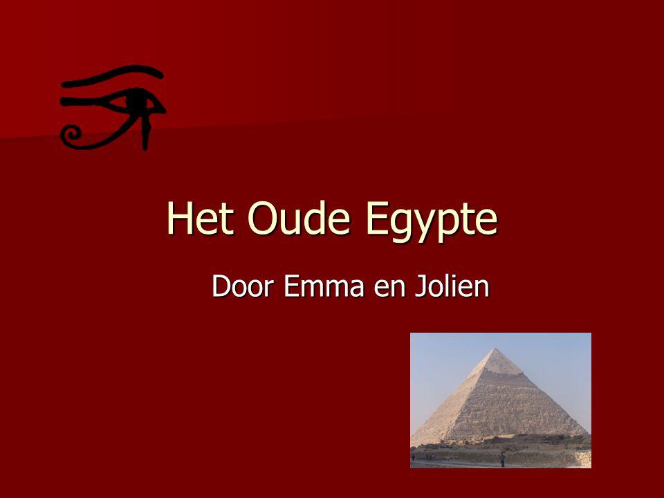 Inhoudstabel De Oude Egyptenaren Egyptische Goden De Farao's De Piramides