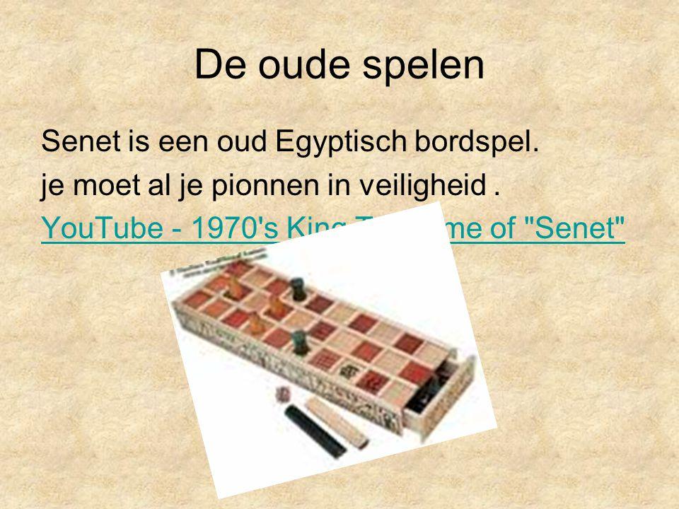 De oude spelen Senet is een oud Egyptisch bordspel. je moet al je pionnen in veiligheid. YouTube - 1970's King Tut game of