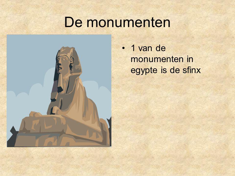 De monumenten 1 van de monumenten in egypte is de sfinx
