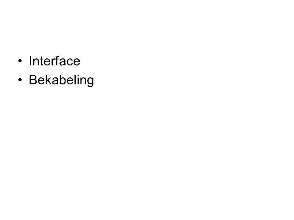 Interface Bekabeling
