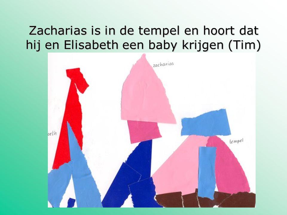 Zacharias is in de tempel en hoort dat hij en Elisabeth een baby krijgen (Tim)