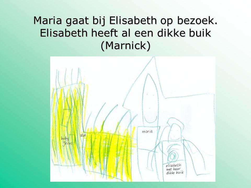 Maria gaat bij Elisabeth op bezoek. Elisabeth heeft al een dikke buik (Marnick)