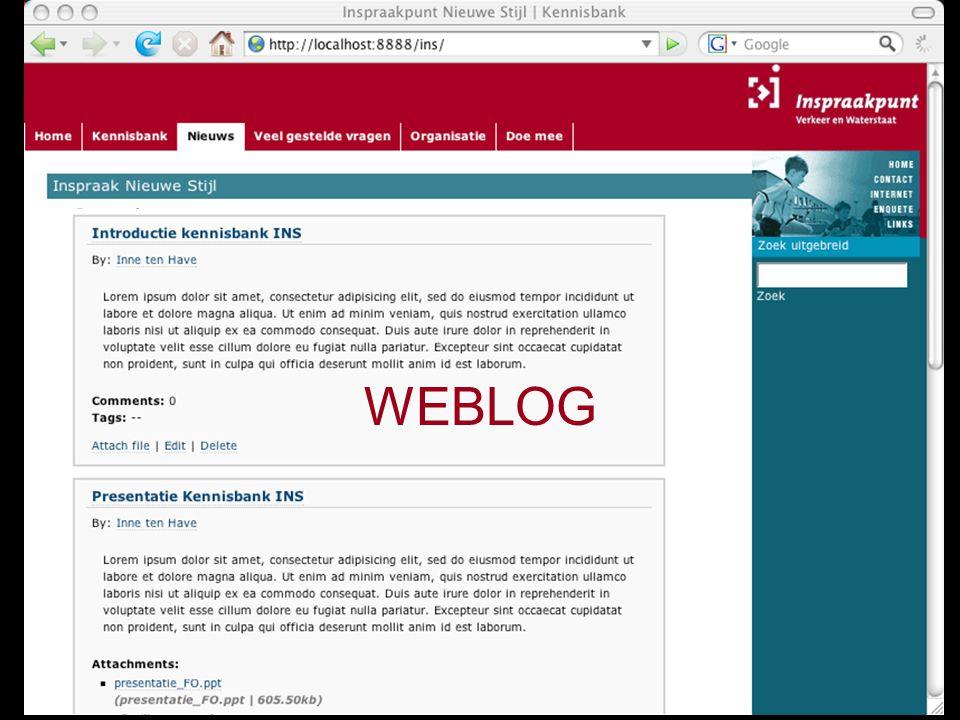 5 december 2006Darwine, Inne ten Havepagina 20 WEBLOG