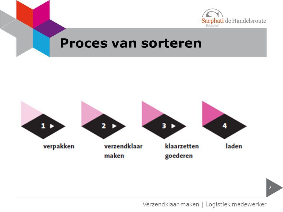 Proces van sorteren 2 Verzendklaar maken | Logistiek medewerker