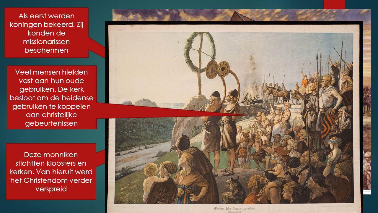 Het geloof ging een hele grote rol spelen in de middeleeuwen.