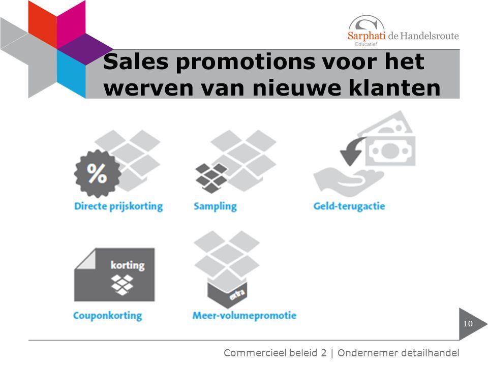 Sales promotions voor het werven van nieuwe klanten 10 Commercieel beleid 2 | Ondernemer detailhandel
