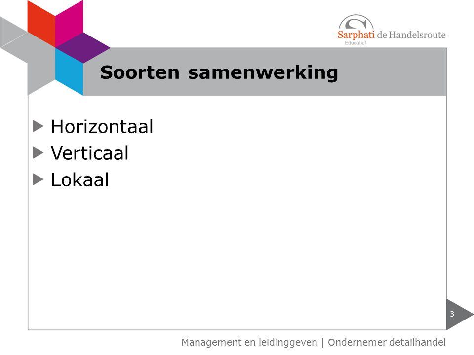 Horizontaal Verticaal Lokaal 3 Soorten samenwerking Management en leidinggeven | Ondernemer detailhandel