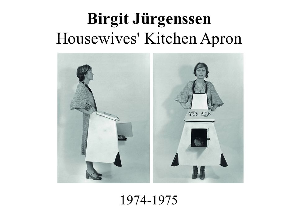 Birgit Jürgenssen Housewives' Kitchen Apron 1974-1975
