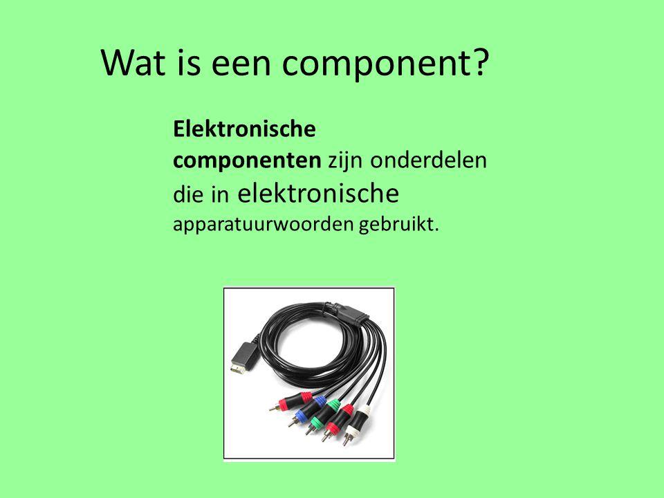 Wat is een component.
