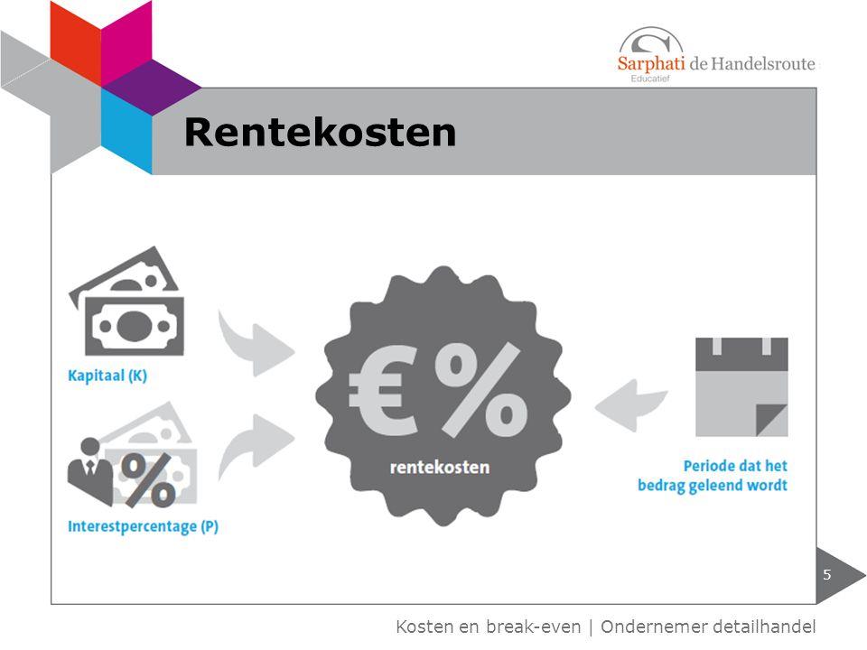 Kosten en break-even | Ondernemer detailhandel Rentekosten 5