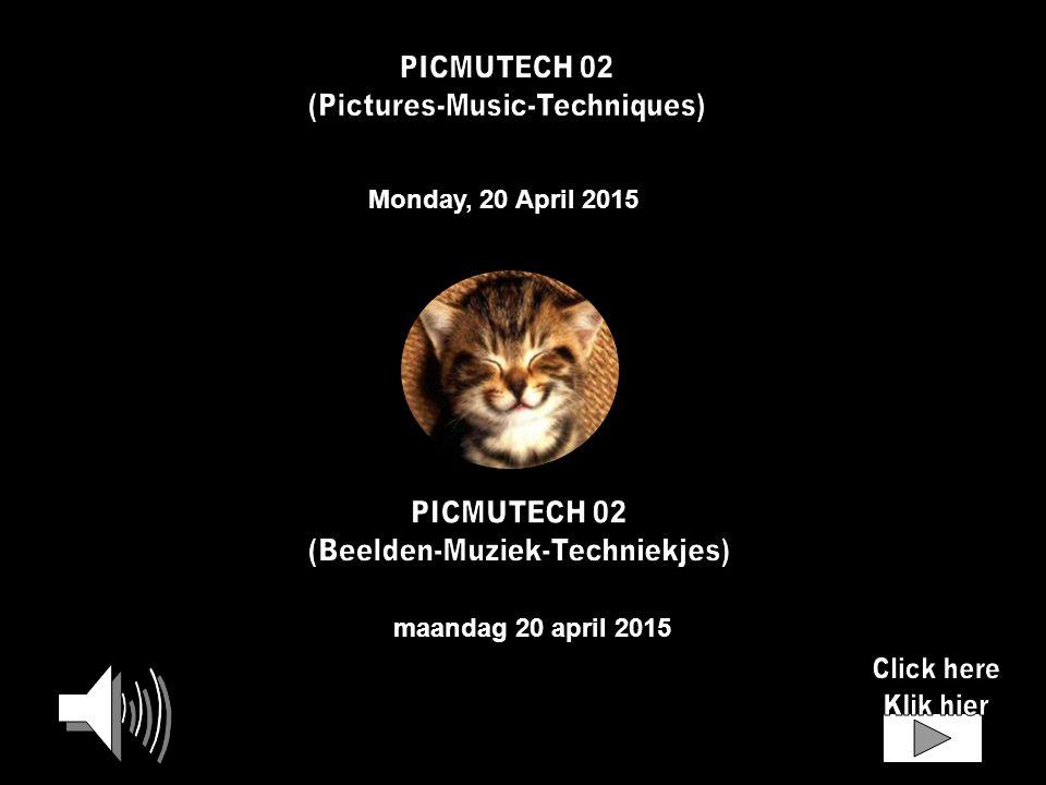 Monday, 20 April 2015 maandag 20 april 2015