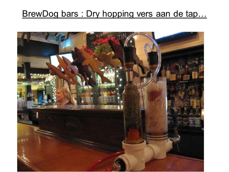 BrewDog bars : Dry hopping vers aan de tap…