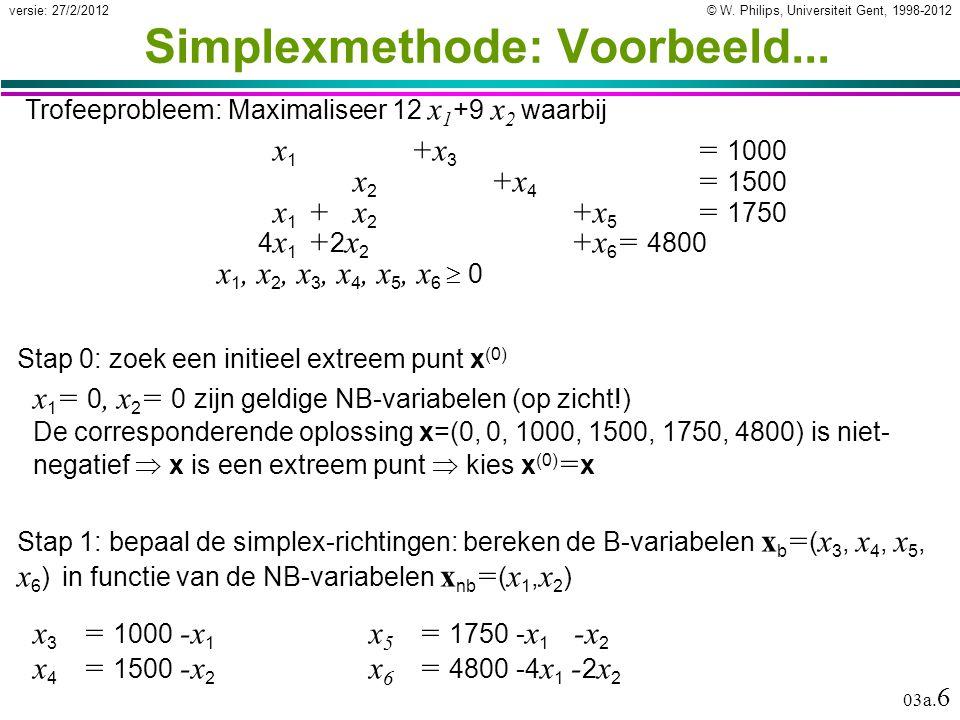 © W. Philips, Universiteit Gent, 1998-2012versie: 27/2/2012 03a.