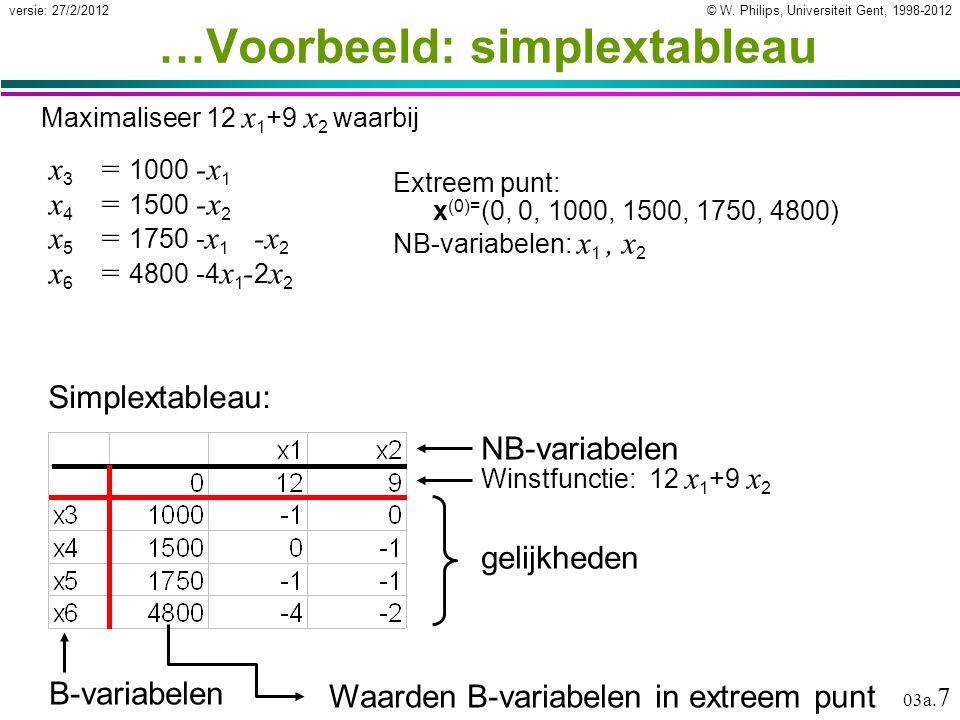 © W.Philips, Universiteit Gent, 1998-2012versie: 27/2/2012 03a.
