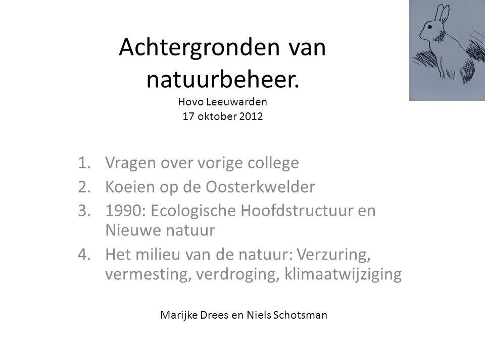 Achtergronden van natuurbeheer.
