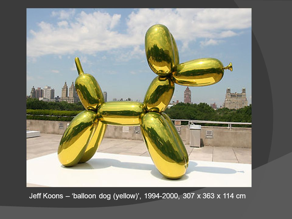 Jeff Koons – 'balloon dog (yellow)', 1994-2000, 307 x 363 x 114 cm