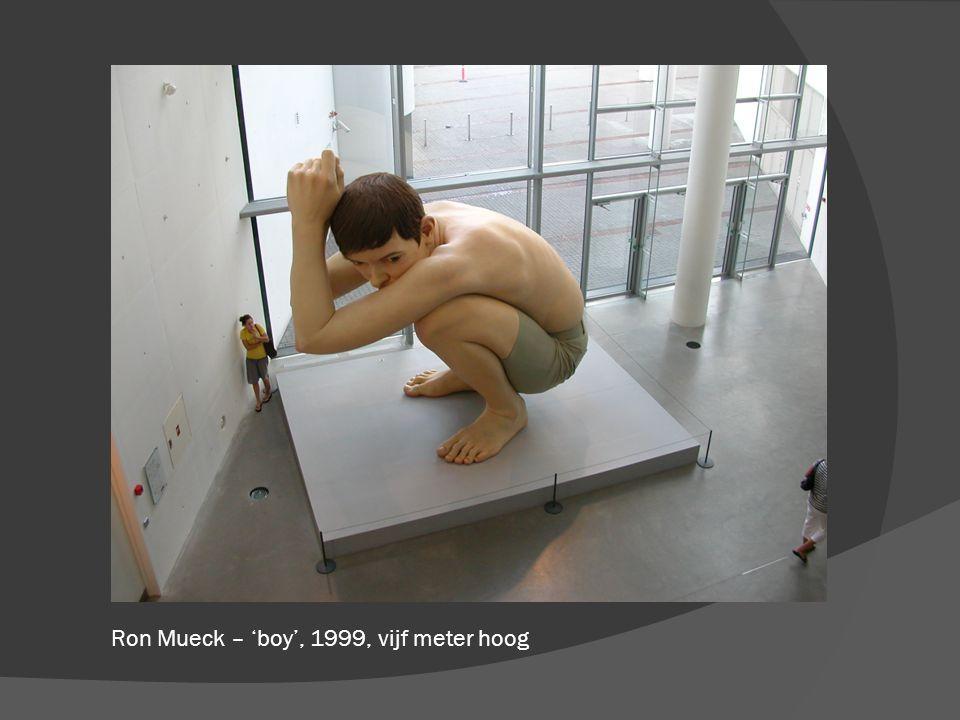 Ron Mueck – 'boy', 1999, vijf meter hoog