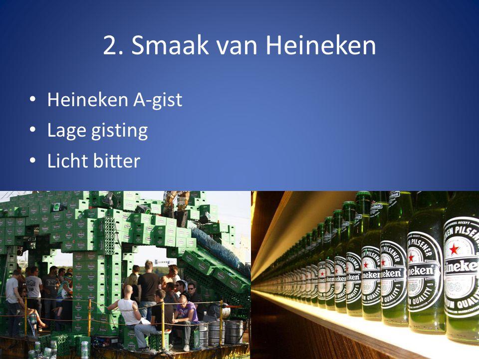 2. Smaak van Heineken Heineken A-gist Lage gisting Licht bitter