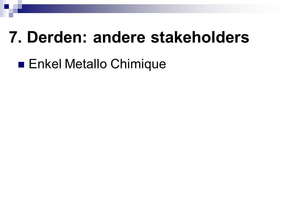 7. Derden: andere stakeholders Enkel Metallo Chimique