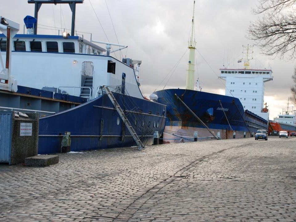 Er lagen veel schepen aan de Parkkade