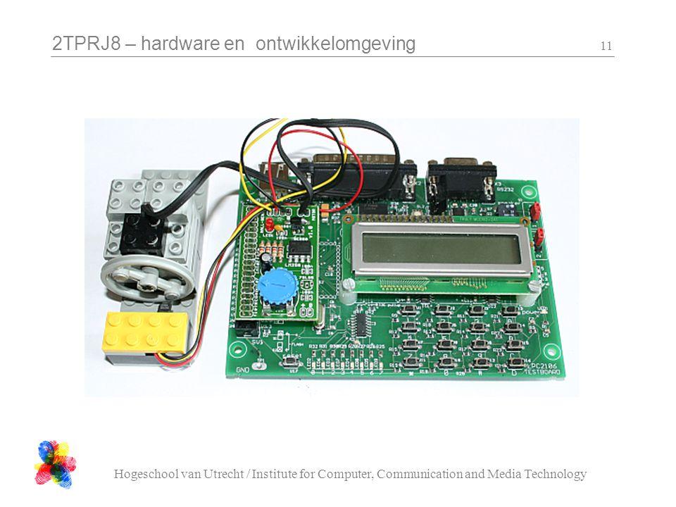 2TPRJ8 – hardware en ontwikkelomgeving Hogeschool van Utrecht / Institute for Computer, Communication and Media Technology 11