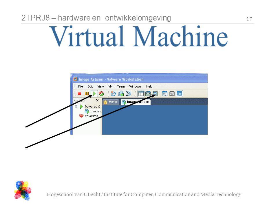 2TPRJ8 – hardware en ontwikkelomgeving Hogeschool van Utrecht / Institute for Computer, Communication and Media Technology 17