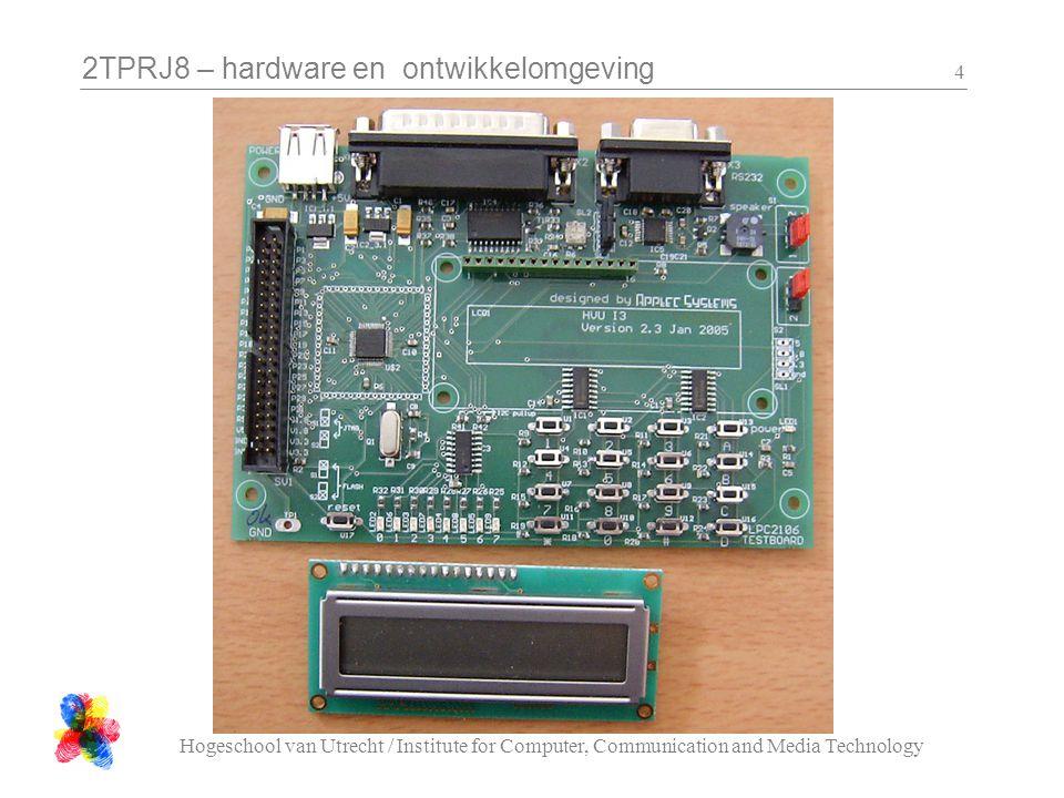 2TPRJ8 – hardware en ontwikkelomgeving Hogeschool van Utrecht / Institute for Computer, Communication and Media Technology 55 class C_Beeper { public: // switch the Beeper on (== high) void on( void ); // switch the Beeper off (== low) void off( void ); private:...