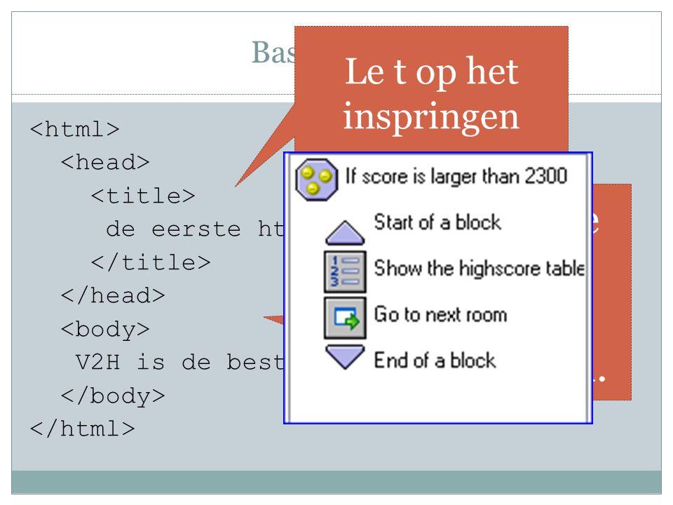 Basis maken de eerste html-pagina V2H is de beste.
