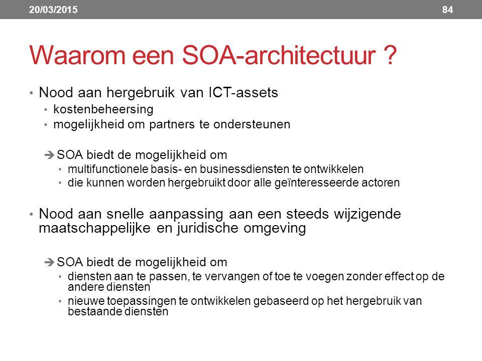 Waarom een SOA-architectuur .