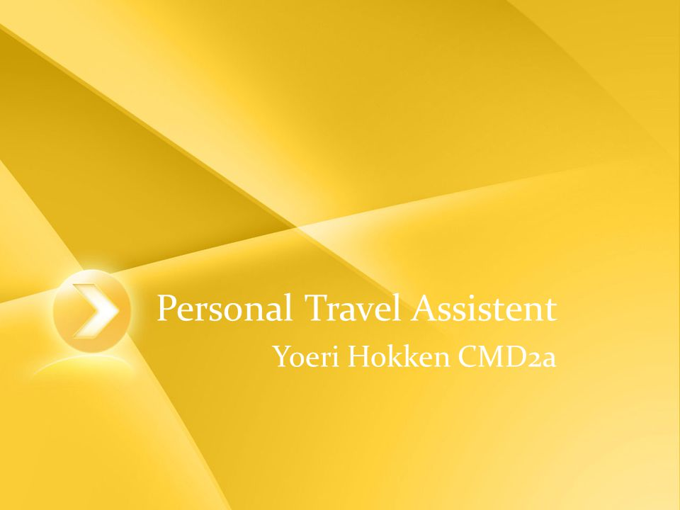 Personal Travel Assistent Yoeri Hokken CMD2a