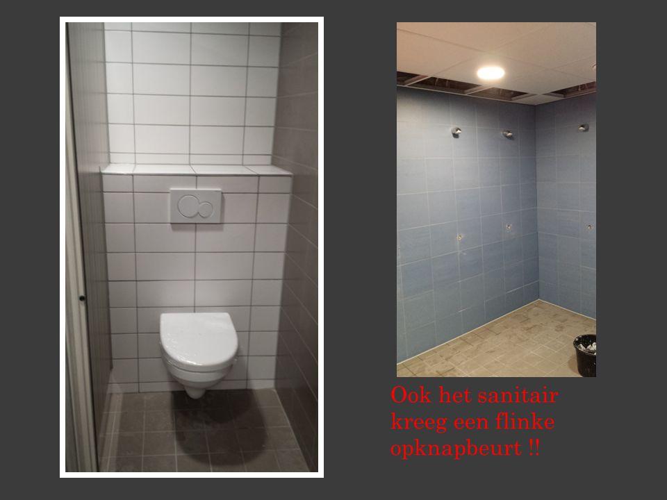 Ook het sanitair kreeg een flinke opknapbeurt !!