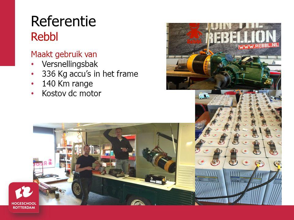 Referentie Rebbl Maakt gebruik van Versnellingsbak 336 Kg accu's in het frame 140 Km range Kostov dc motor