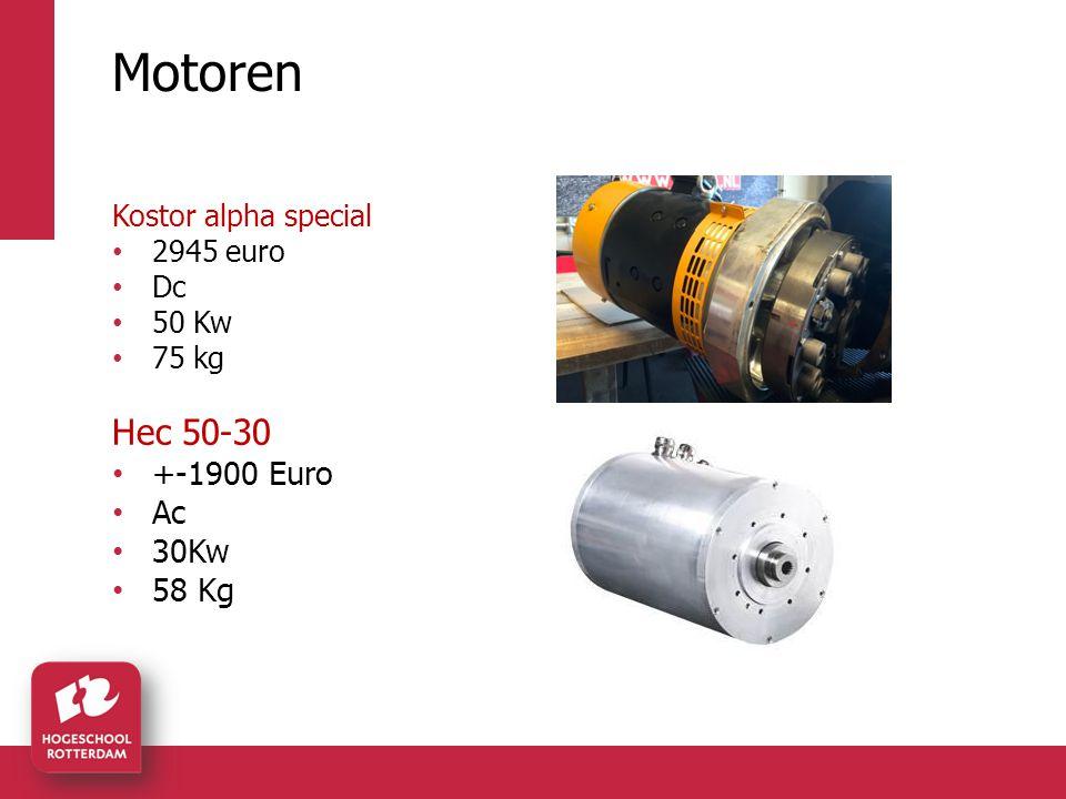 Motoren Kostor alpha special 2945 euro Dc 50 Kw 75 kg Hec 50-30 +-1900 Euro Ac 30Kw 58 Kg