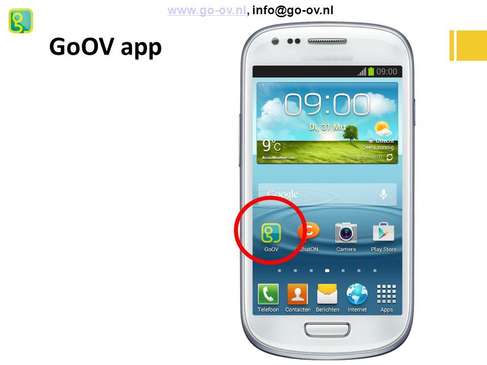 GoOV app www.go-ov.nl, info@go-ov.nlwww.go-ov.nl