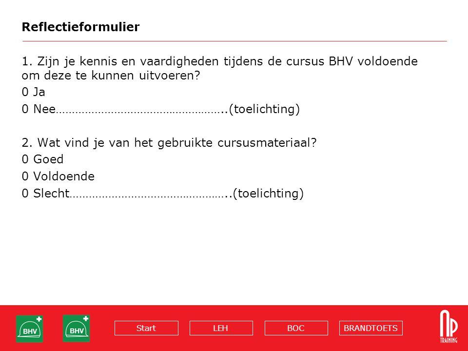 BRANDTOETSBOCLEHStart Reflectieformulier 1.