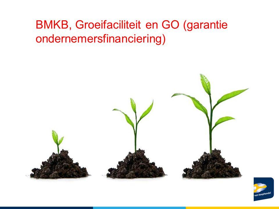 BMKB, Groeifaciliteit en GO (garantie ondernemersfinanciering)