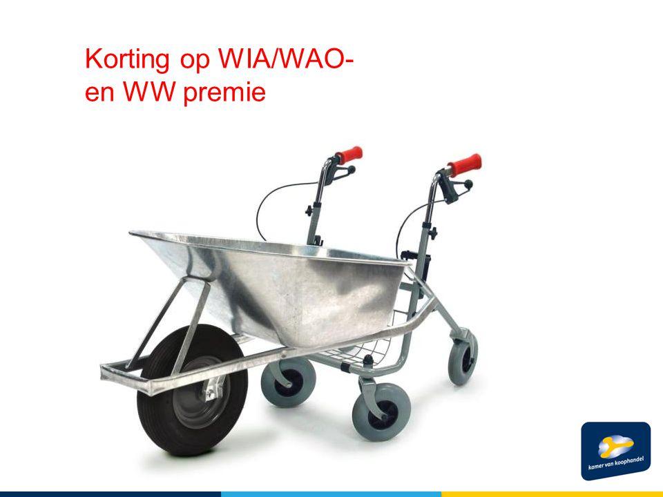 Korting op WIA/WAO- en WW premie