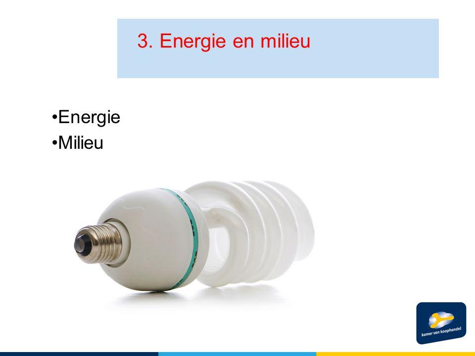 Energie Milieu 3. Energie en milieu