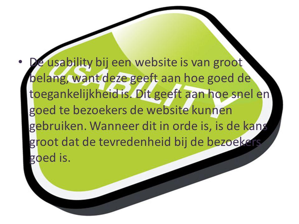 De usability bij een website is van groot belang, want deze geeft aan hoe goed de toegankelijkheid is.