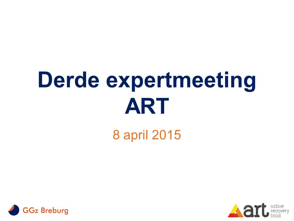 Derde expertmeeting ART 8 april 2015