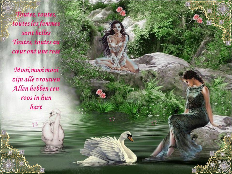 Moi l éternel baladin C est de tout cœur que je viens Vous offrir ce refrain Ik de eeuwige troubadoer Uit het diepst van mijn hart Bied ik je dit refrein