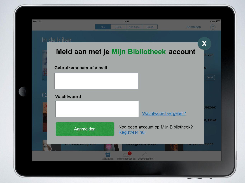 Meld aan met je Mijn Bibliotheek account X X Gebruikersnaam of e-mail Wachtwoord Aanmelden Wachtwoord vergeten.