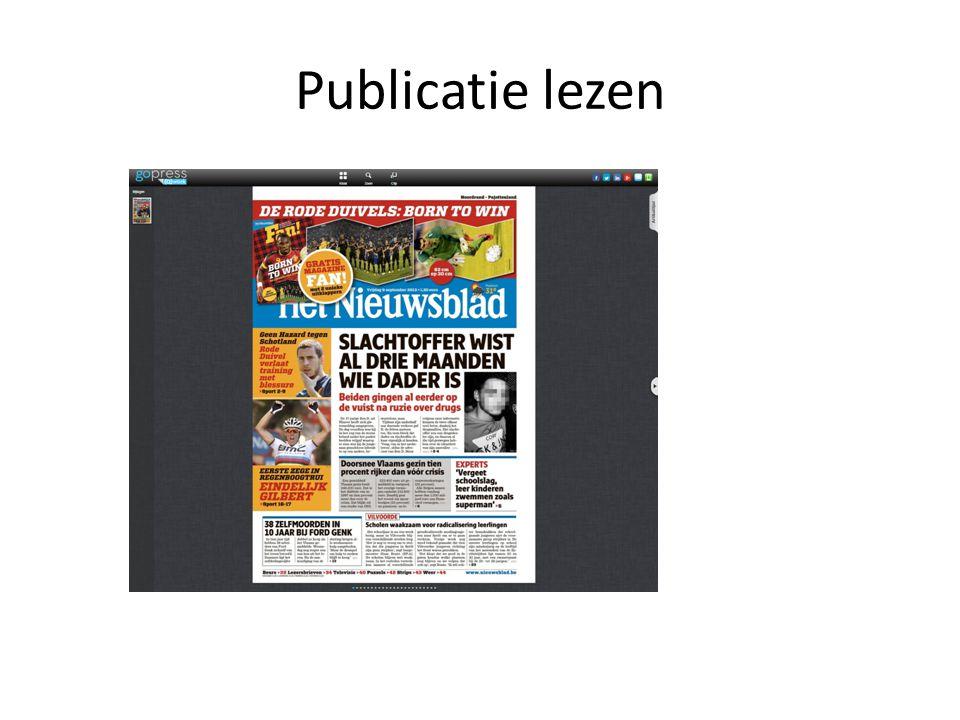 Publicatie lezen