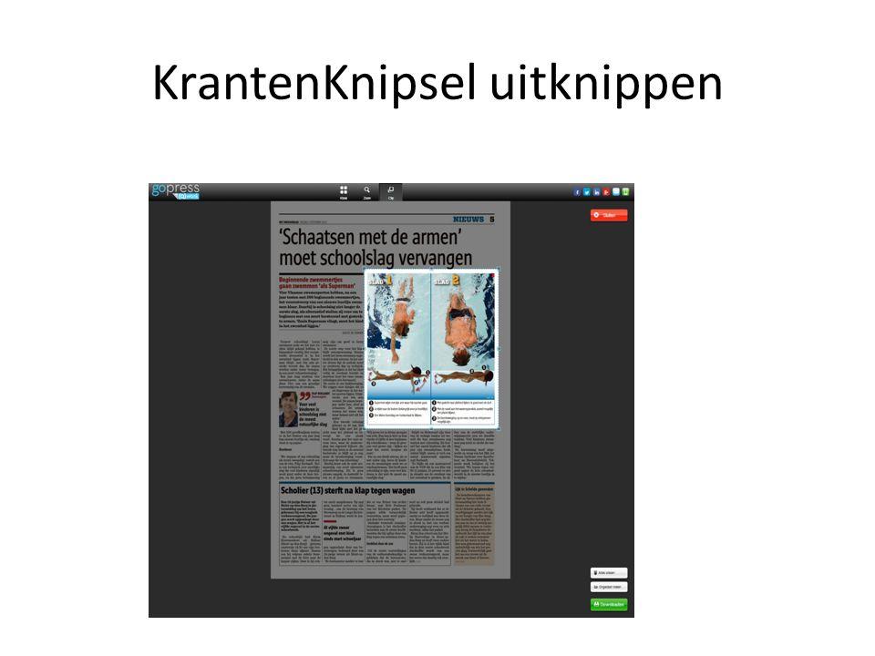 KrantenKnipsel uitknippen