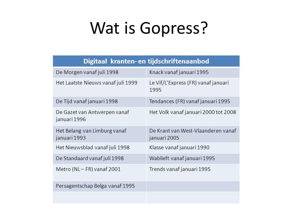 Gopress Krantenarchief Doorzoekbaar digitaal archief van krantenartikelen Nieuwe artikelen verschijnen met 2 publicatiedagen vertraging