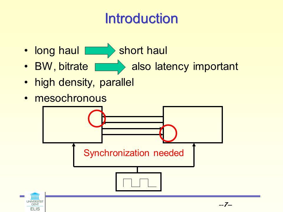 --18-- Synchronization Adjusting the phase Clk Data Auxiliary Clk