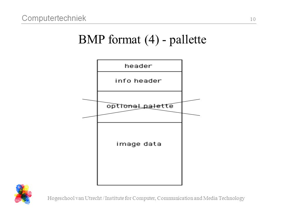 Computertechniek Hogeschool van Utrecht / Institute for Computer, Communication and Media Technology 10 BMP format (4) - pallette