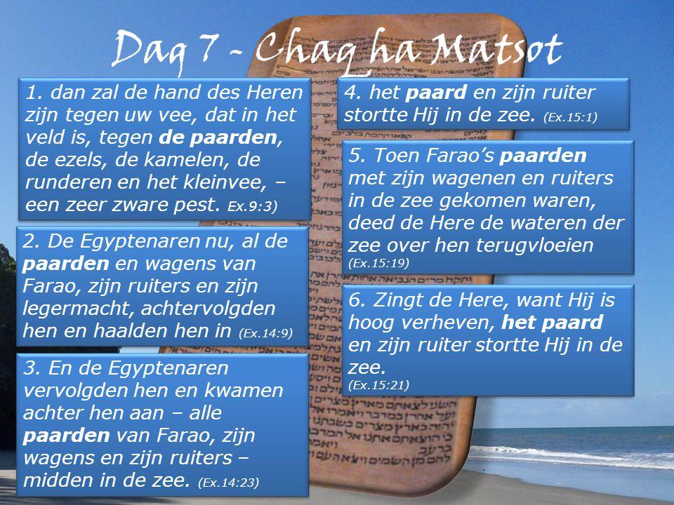 Dag 7 - Chaq ha Matsot 1.