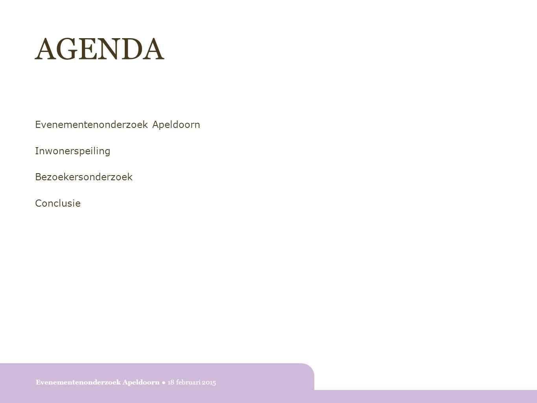 EVENEMENTENONDERZOEK APELDOORN Doel 1.Inzicht in bekendheid en waardering evenementenaanbod 2.